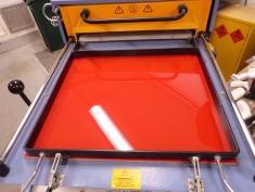 Red Plastic sheet